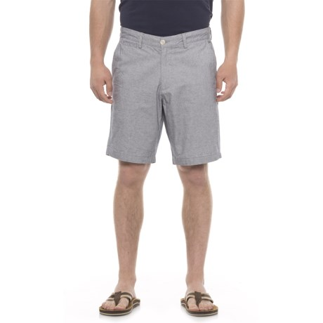 Rainforest Garment-Washed End-on-End Shorts (For Men) in Navy Blazer