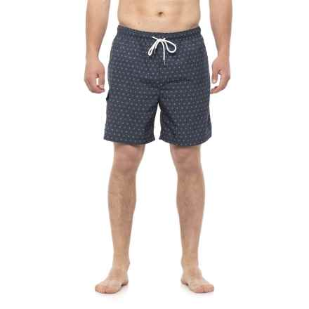 Rainforest Geometric Star Swim Trunks (For Men) in Indigo - Closeouts