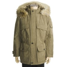 Rainforest Goose Down Parka - Coyote Trimmed Hood (For Men) in Tobacco - Closeouts