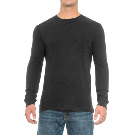 Rainforest Heather Pocket Shirt - Long Sleeve (For Men) in Black