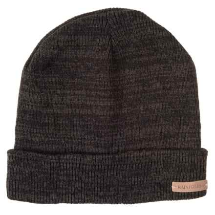 Rainforest Jersey-Lined Marled Beanie in Black - Closeouts 3098dfbc0b3d