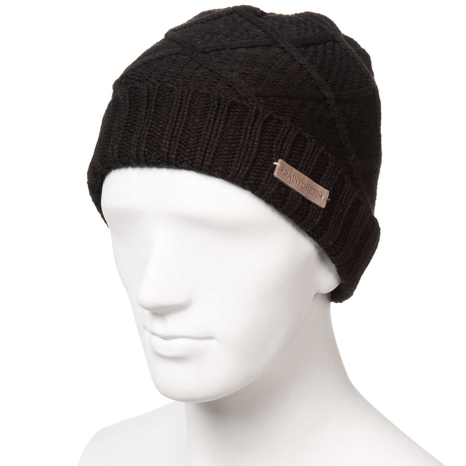 Rainforest Jersey-Lined Marled Cable-Knit Beanie - Save 85% 330663b02b3