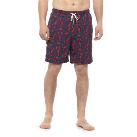 Rainforest Lobster Swim Trunks (For Men) in Indigo - Closeouts