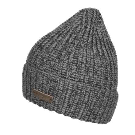 Rainforest Marled Rib-Knit Beanie - Roll Cuff (For Men) in Grey Marled - Closeouts