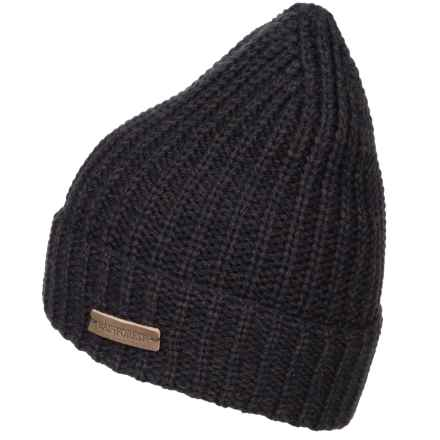 Rainforest Marled Rib-Knit Beanie - Roll Cuff (For Men) in Navy Marled - Closeouts