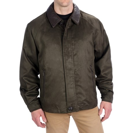 Rainforest Microsuede Twill Jacket - Zip-Out Down Liner (For Men) in Fire