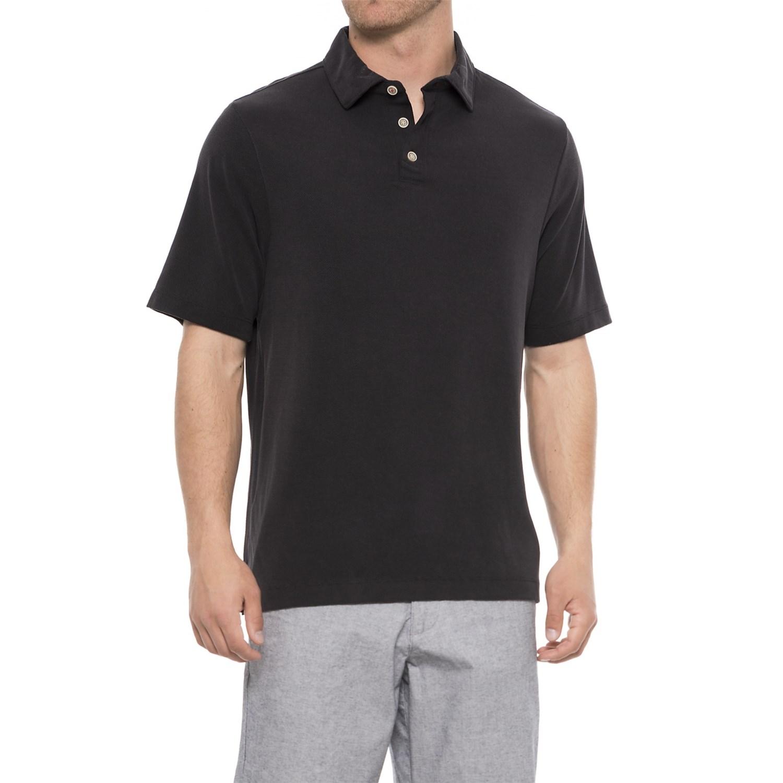 8f306a99d Rainforest Modal Polo Shirt - Short Sleeve (For Men) in Black ...