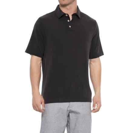 Rainforest Modal Polo Shirt - Short Sleeve (For Men) in Black - Closeouts
