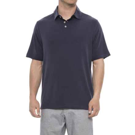 Rainforest Modal Polo Shirt - Short Sleeve (For Men) in Navy Blazer - Closeouts
