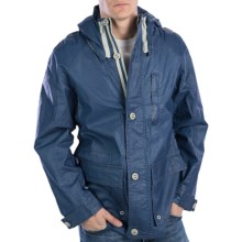 Rainforest Nautical Hipster Jacket - Removable Snorkel Hood (For Men) in Marine - Closeouts