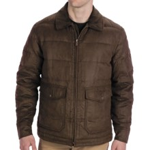 Rainforest Quilted Bomber Down Jacket - Microsuede Twill, Insulated (For Men) in Hawk - Closeouts