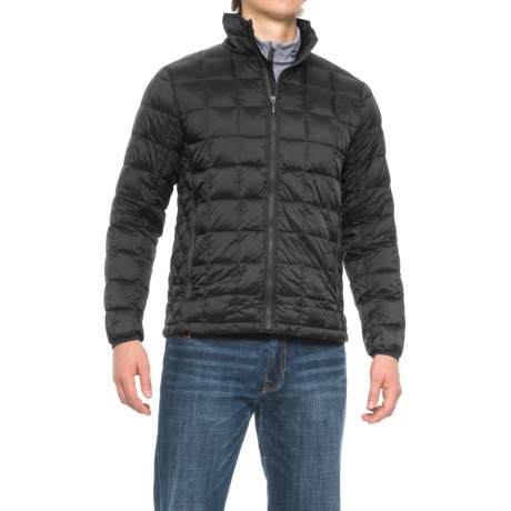 Rainforest Quilted Down Coat (For Men) in Black