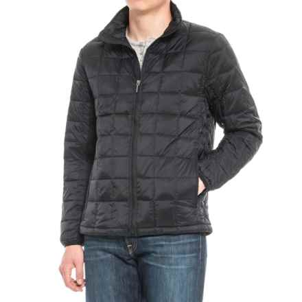 Rainforest Quilted Stand-Up Collar Down Jacket (For Men) in Black - Closeouts