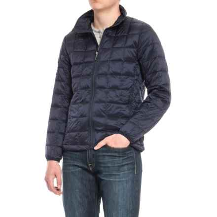Rainforest Quilted Stand-Up Collar Ink Down Jacket (For Men) in Ink - Closeouts
