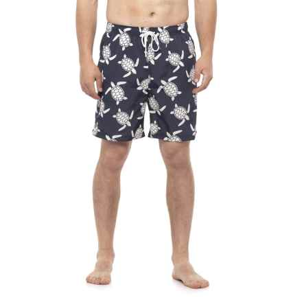 Rainforest Sea Turtle Swim Trunks (For Men) in Moodi - Closeouts