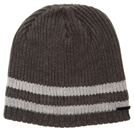 Rainforest Sherpa-Lined Marled Striped Beanie in Charcoal Grey 4fcefa142af0