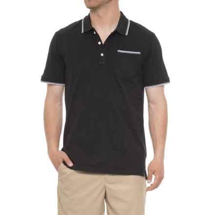 865a1d39fb7 Rainforest Slub Knit Polo Shirt - Short Sleeve (For Men) in Black -  Closeouts