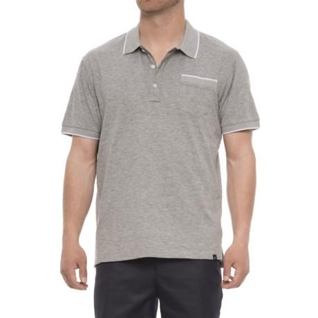 af0d71ea02f Rainforest Slub Knit Polo Shirt - Short Sleeve (For Men) in Grey Heather