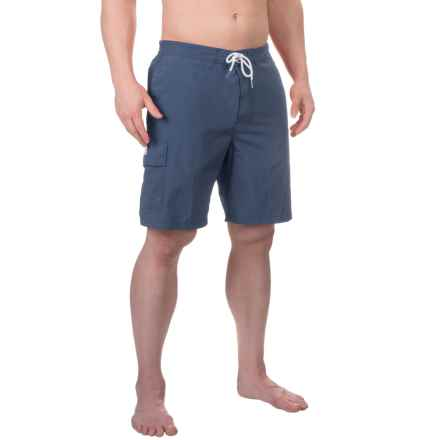 Rainforest Solid Boardshorts - Built-In Briefs (For Men) in Mood Indigo - Closeouts