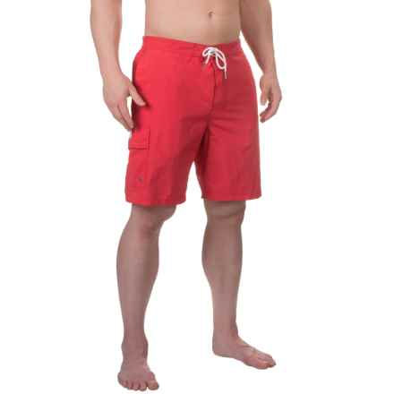 Rainforest Solid Boardshorts - Built-In Briefs (For Men) in Ribbon Red - Closeouts