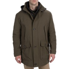 Rainforest Storm Parka - Waxed Cotton, Removable Liner (For Men) in Caper - Closeouts