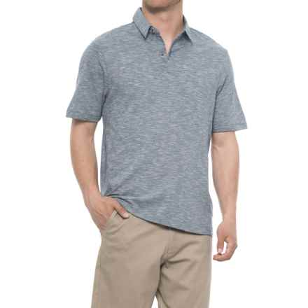 Rainforest Straight Collar Fine Line Polo Shirt - Short Sleeve (For Men) in Indigo - Closeouts