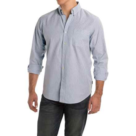 Rainforest Stripe Stretch Oxford Shirt - Long Sleeve (For Men) in Tic Stripe Navy/White - Closeouts