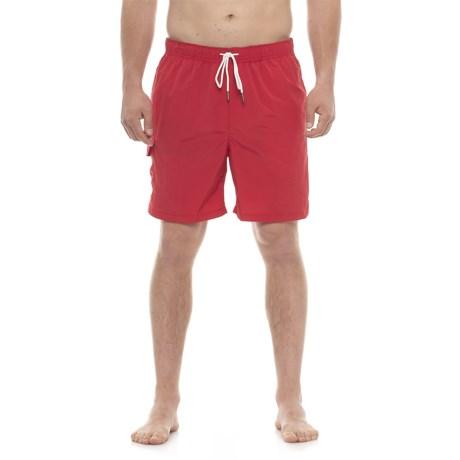 Rainforest Stripe Swim Trunks (For Men) in Red