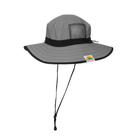 Rainier Sun Big Island Summer Hat - UPF 50+ (For Men) in Charcoal