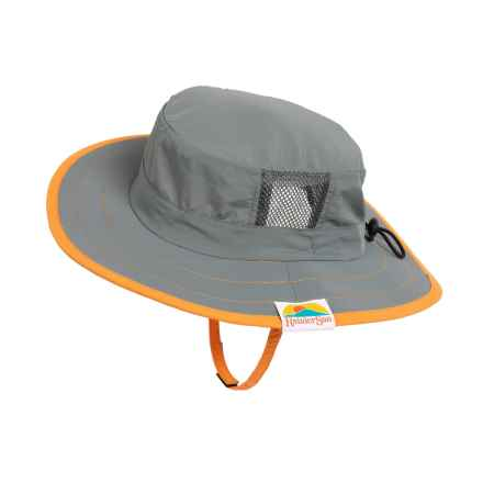 Rainier Sun Cricket Sun Hat - UPF 50+ (For Little and Big Kids) in Charcoal - Closeouts