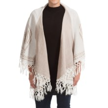 Raj Aztec Poncho - Sleeveless (For Women) in Winter White - Closeouts