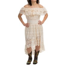 Rancho Estancia Gypsy Dress - Short Sleeve (For Women) in Cream - Closeouts