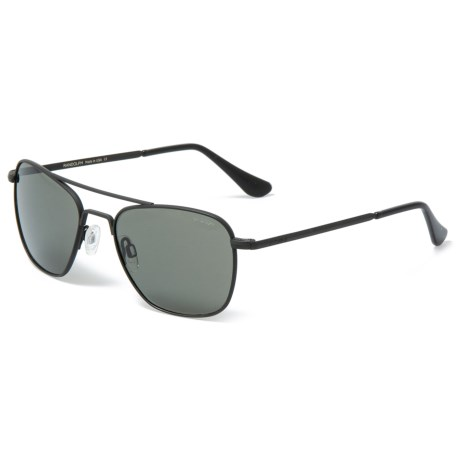 9796f88ed6 Randolph Aviator AF010 Sunglasses - Glass Lenses in Matte Black Gray
