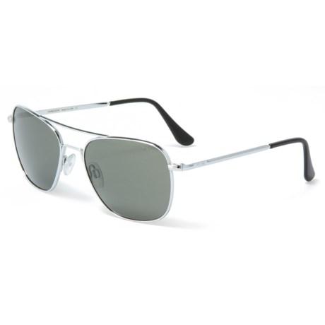 f4f1d7ff4c0 Randolph Aviator AF120 Sunglasses - Glass Lenses (For Women) in Bright  Chrome Gray