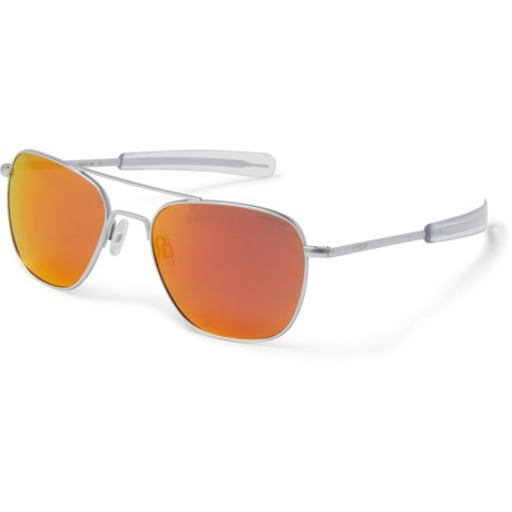 4f9afb7d8c9 Randolph Aviator AF159 Sunglasses (For Women) in Matte Chrome Bayonet Nylo