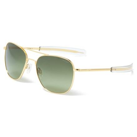 76604e06d70c Randolph Aviator AF164 Sunglasses - Glass Lenses (For Women) in 23K  Gold Green