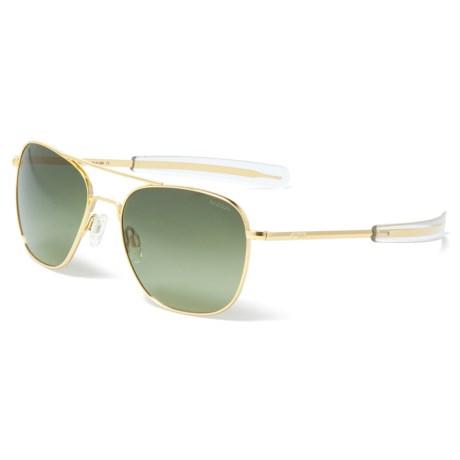 f8636004ff Randolph Aviator AF164 Sunglasses - Glass Lenses in 23K Gold Green Gradient