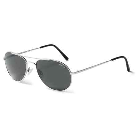 Randolph Crew Chief Sunglasses - Polarized in Bright Chrome/ Gray Pc/ Skull Temple - Overstock