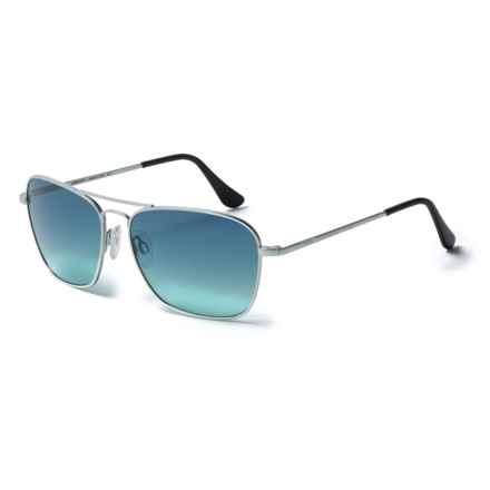 Randolph Intruder Metal Pilot Sunglasses - Glass Lenses in Matte Chrome/Blue Gradient - Overstock