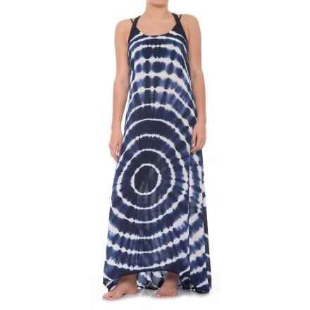 Raviya Long Tie-Dye Dress - Sleeveless (For Women) in Grey/Navy - Closeouts