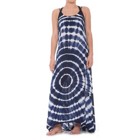 Raviya Long Tie-Dye Dress - Sleeveless (For Women) in Grey/Navy