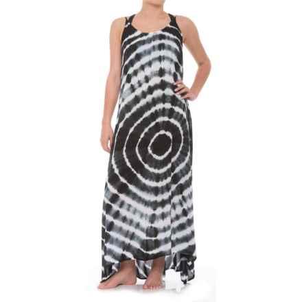 65234995cb Raviya Strappy Back Long Tie-Dye Dress - Sleeveless (For Women) in Black