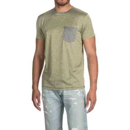 Raw Yarn Industries Solid T-Shirt - Crew Neck, Short Sleeve (For Men) in Olive - Closeouts