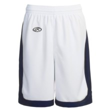 Rawlings Basketball Shorts (For Women) in White/Navy - Closeouts
