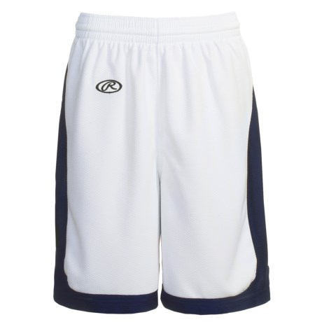 Rawlings Basketball Shorts (For Women) in White/Navy