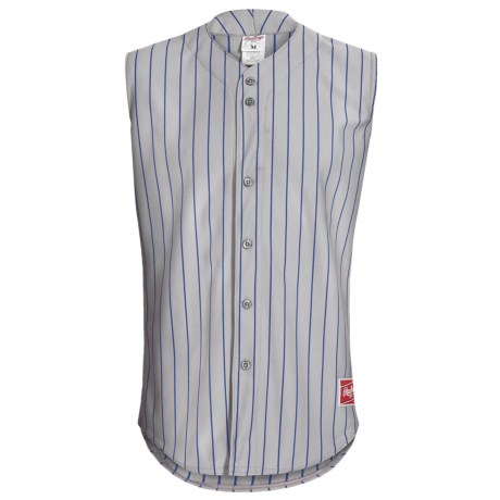 Rawlings Change Up Baseball Jersey - Sleeveless (For Men and Women) in Dodger Grey/Royal