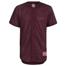 Rawlings Double Play Baseball Jersey - Short Sleeve (For Men) in Maroon - Closeouts