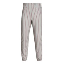 Rawlings Pro Weight Pinstripe Baseball Pants (For Men and Women) in Dodger Grey/Scarlet - Closeouts