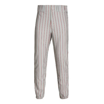 Rawlings Pro Weight Pinstripe Baseball Pants (For Men and Women) in Dodger Grey/Scarlet
