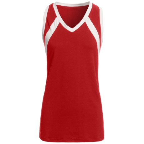 Rawlings Slap Hit Racerback Softball Jersey - Sleeveless (For Women) in Scarlet